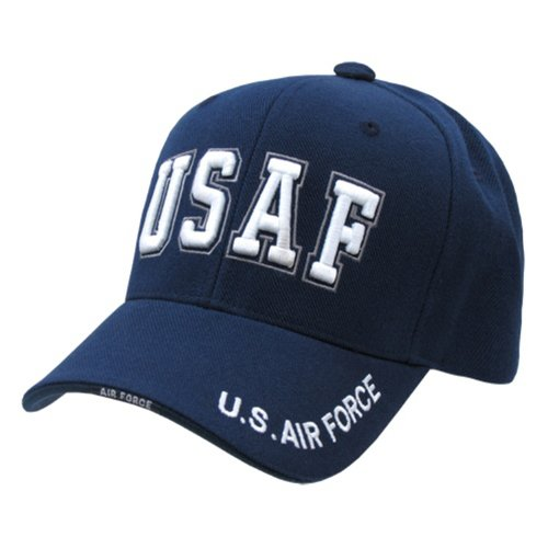 (Rapid Dominance US Air Force Text Baseball Ball Cap Hat(Blue, One Size))