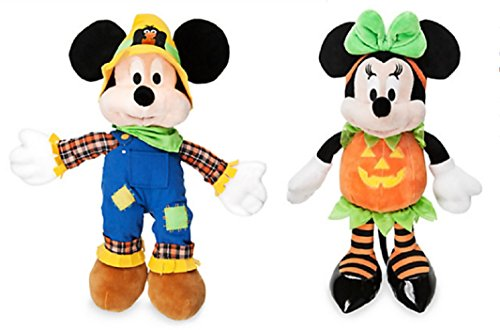 Disney - Mickey & Minnie Mouse Halloween Plush set of 2 - (Minnie And Mickey Halloween)