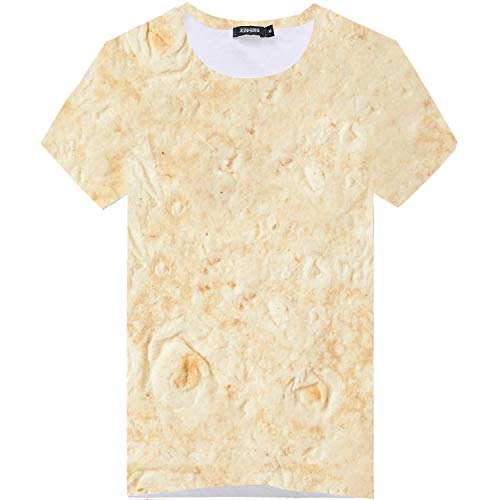 Willow S ❤Men's Summer Mexican Cake Printed Short Sleeves Slim Fit Fashion Comfort Breathable Top Blouse Yellow ()