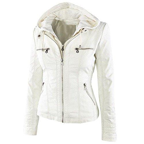 Vintage White Leather Jacket - 6
