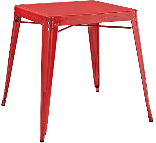 Crosley Furniture Amelia 30-inch Metal Cafe Table - Red
