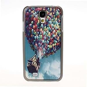Patrón Globo colorido del Negro de la cubierta dura del caso para i9500 Samsung Galaxy S4