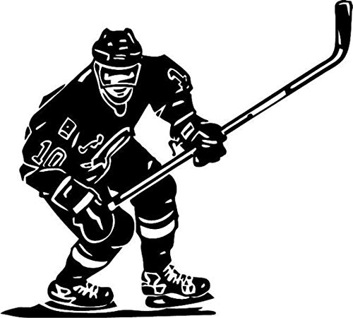 Uyeai DIY Removable Vinyl Decal Mural Letter Wall Sticker Ice Hockey Player NHL Sport Boy Room Decor Sticker for Room Decoration -