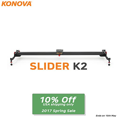 Konova Camera Slider Dolly K2 120cm (47.2 Inch) by KONOVA