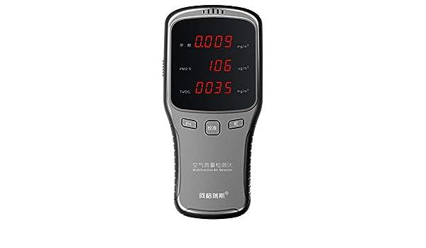 Hengyuanyi Detector de gas digital Sensor de alarma de detección de fugas de gas/carbón/gas natural de alta sensibilidad para hogar/cocina Detector de ...