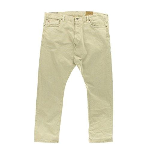 Polo Ralph Lauren Mens Varick Denim Slim-Straight Straight Leg Jeans Tan - Lauren Ralph Mexico Polo