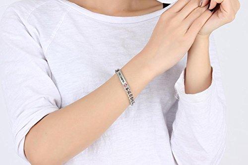 VNOX TYPE 2 DIABETES Bracelet Stainless Steel Medical Alert ID Bracelet for Unisex 8'' by VNOX (Image #5)