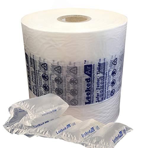 (LUXXXE Locked Air Inflatable Packaging Air Film Air Pillows Air Bubble Air Cushion Film for Packing Packaging Shipping (1-Roll Pillow Film))