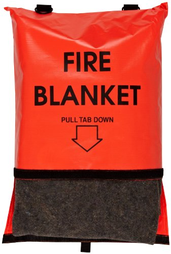 Think Safe 911-83700 Bright Orange Fire Blanket and Bag with Velcro Closure, 84