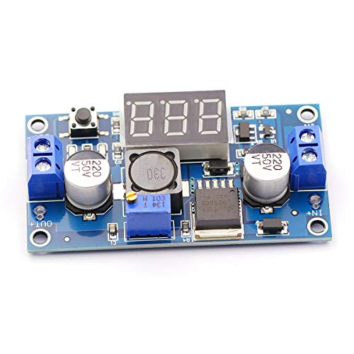 CenryKay LM2596 DC-DC Adjustable Buck Converter Module 4.0~40V to 1.25~37V Power Supply Transformer with LED Display