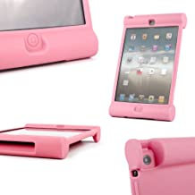 DURAGADGET Pink Rubber Shock Resistant Easy Grip Children's Case & Cover Custom Designed For The New Apple iPad Mini With Retina Display & Apple iPad Mini Tablets (Wi-Fi & Cellular) (16GB, 32GB, 64GB) With Easy Grip