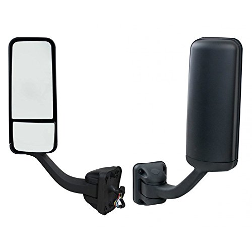 Freightliner Cascadia Door Mirror | Driver Side | Black | Power & Heated | Includes Mirror + Mounting Arm | 2008+ Models | Direct Aftermarket Replacement for OEM A22-60713-002 | Areion