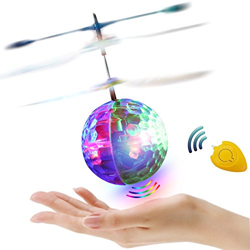 RC Flying Ball, Crystal Flashing LED Light Flying ball RC Toy RC infrared Induction Helicopter for Kids, Teenagers Colorful Flyings for Kid's Gifts Toy (Upgraded) Flashing Toys