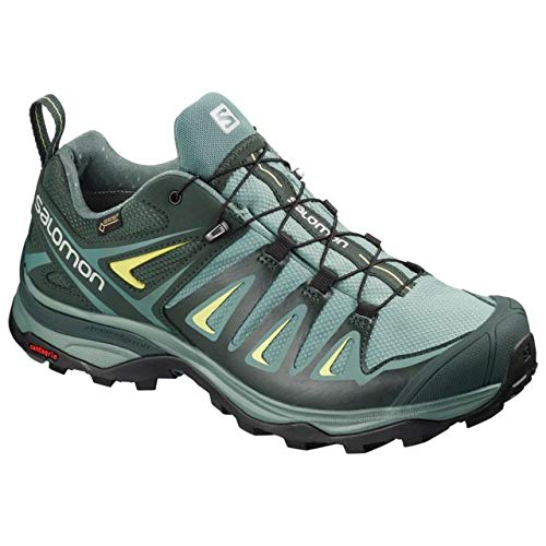 Salomon X Ultra 3 GTX Hiking Boot - Womens, Artic/Darkest Spruce/Sunny Lime, Wide, 6, L40661000-6 by Salomon (Image #6)