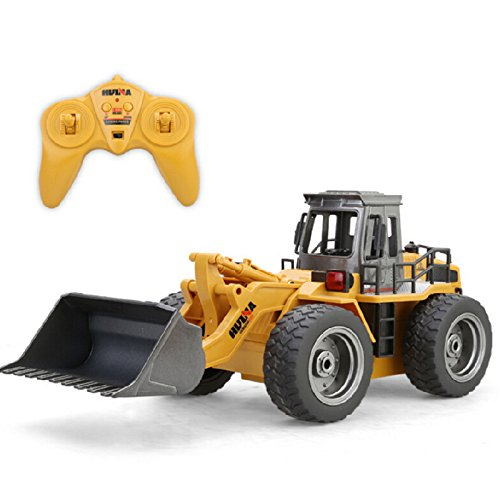 Omnfas RC Truck Alloy Shovel Loader Tractor 2.4G Radio Control 4 Wheel Bulldozer 4WD Front Loader Construction Vehicle Electronic Toys Game Hobby Model from Omnfas
