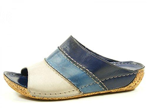 Mujeres Zapatos abiertos azul, (blau-kombi) 032004-02 822 Blau