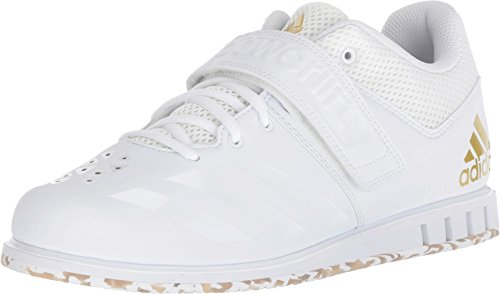 adidas Men's Powerlift.3.1 Cross Trainer, White/Gold Metallic, 11.5 M US ()