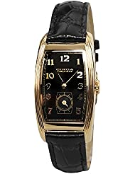 Circa Timepiece 1937 Unisex Tonneau Watch Goldtone Black Dial CT116TB