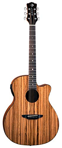 Luna GYP E ZBR Acoustic-Electric Guitar, Gloss Natural ()