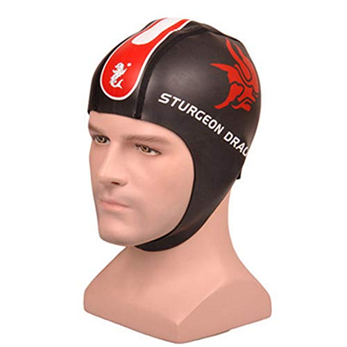 Ear Protection Swim Cap Women Stylish Swimming Cap with Chin Strap for Men Women