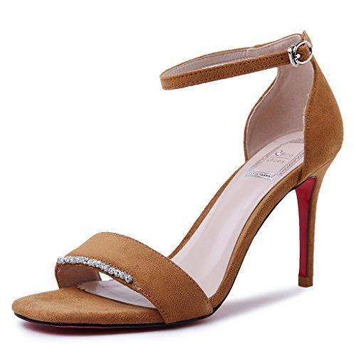 Tacones Alta Shoes Zapatos Diario Home Verano GAOLIM AmarilloYo De Sandalias Mujer De Heel w00xFCqR