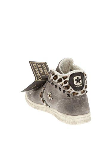 Donna Scarpa Grigio Suede Ltd Leather Art Converse Sneaker 1c643 Mid Pro Casual qw75pS
