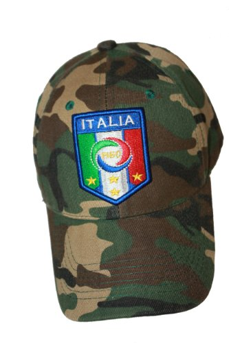 Italia Italy Camouflage FIGC Logo FIFA Soccer World Cup Embossed Hat Cap .. New