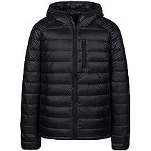 Wantdo Men's Packable Insulated Light Weight Hooded Puffer Down Jacket