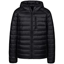 Wantdo Mens Packable Insulated Light Weight Hooded Puffer Down Jacket