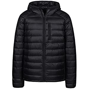 Wantdo Men's Packable Insulated Light Weight Hooded Puffer Down Jacket