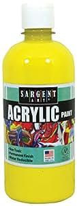 Sargent Art 24-2402 16-Ounce Acrylic Paint, Yellow