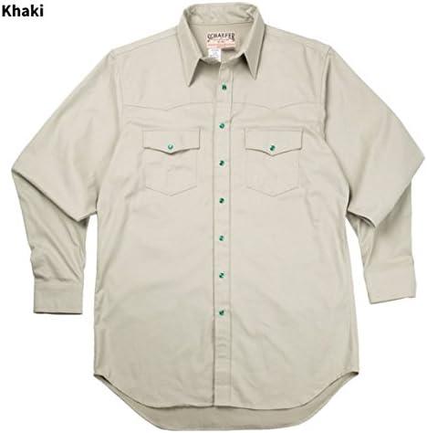 Schaefer Outfitters Denim Button Up Shirts for Men 2050 Classic Albilene Long Sleeve Shirt