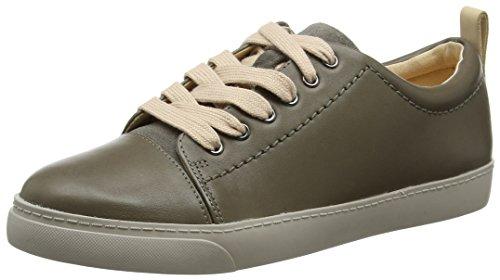 Echo Basse Da Clarks Scarpe grey Donna Grigio Ginnastica Glove Leather Xqtww45