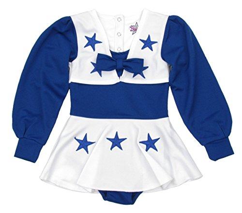 Dallas Cowboys Toddler One Piece Cheerleader Dress Uniform - Blue/White (Dallas Cowboy Cheerleaders Uniforms)