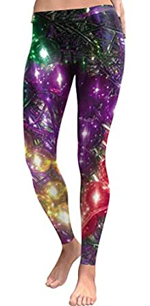 For G and PL Christmas Leggings Womens Ugly Print Gift Ugly Casual Legging Tights Funny Balloon S