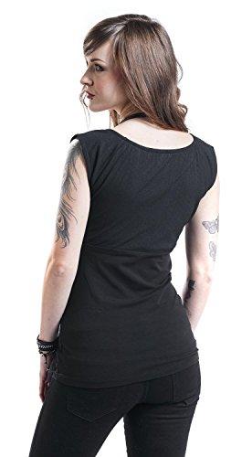 Pussy Deluxe Camiseta Evie Camiseta Mujer Negro Negro