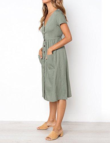 Femme Robe Trapze XL Vert BaseLife AaFnqx
