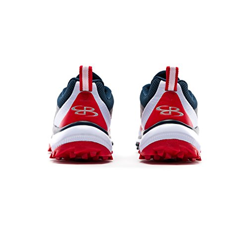Boombah Mens Marauder Turf Shoes - 8 Color Options - Multiple Sizes Navy/Red KdMdQwi