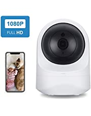 Home Security Camera, SecuPlug Baby Monitor,1080P HD Wireless WiFi Camera for Pet/Nanny, Free Motion Alerts, 2 Way Audio, Night Vision, with TF Card Slot and Cloud Storage