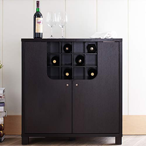 Furniture of America Bento Cappuccino Modern Wine Cabinet Review