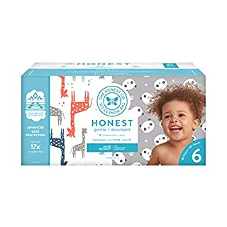 The Honest Company Super Club Box Diapers with TrueAbsorb Technology, Pandas & Safari, Size 6, 88 Count