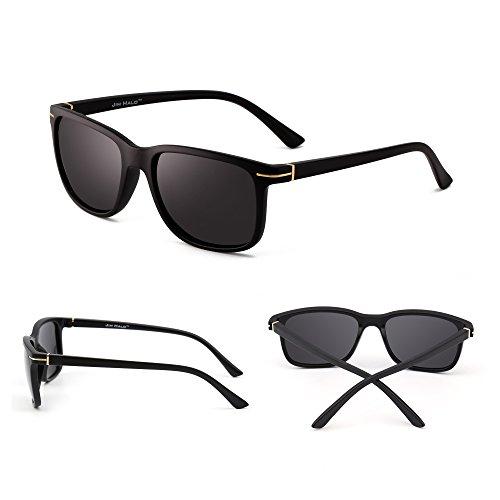 Clásico Polarizado Negro Hombre Cuadradas Anteojos Polarizadas Gafas Conducir Gris Sol Mujer Retro de HgxOR6
