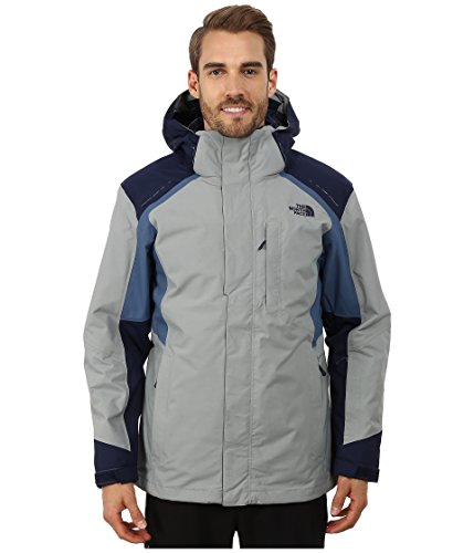 The North Face Men's Vortex Triclimate Jacket, Monument Grey/Cosmic Diesel Blue, ()