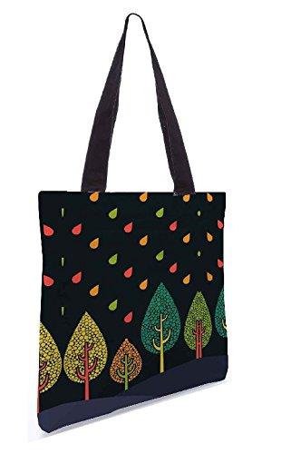 Snoogg Baum kühle 13,5 x 15 Zoll-Shopping-Dienstprogramm-Einkaufstasche aus Polyester-Segeltuch gemacht