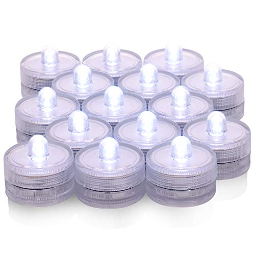 Submersible Led Lights,Waterproof Tea Lights,36 Pack Underwater Battery Sub LED Lights Seasonal & Festival Celebration,in SPA,bathroom,restaurants,wedding
