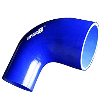 51MM Upgr8 Universal 4-Ply High Performance 90 Degree Elbow Reducer Coupler Silicone Hose to 3.0 76MM , Black 2.0