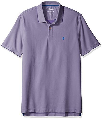 IZOD Men's Regular Fit Advantage Performance Short Sleeve Solid Polo, Bright Violet, Small ()