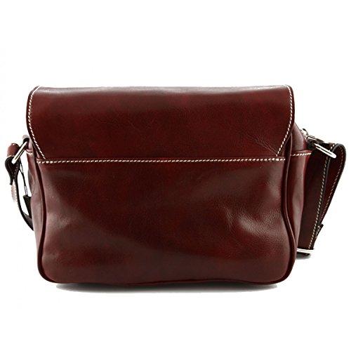 Borsa A Tracolla Per Donna In Pelle Vera Colore Rosso - Pelletteria Toscana Made In Italy - Borsa Donna