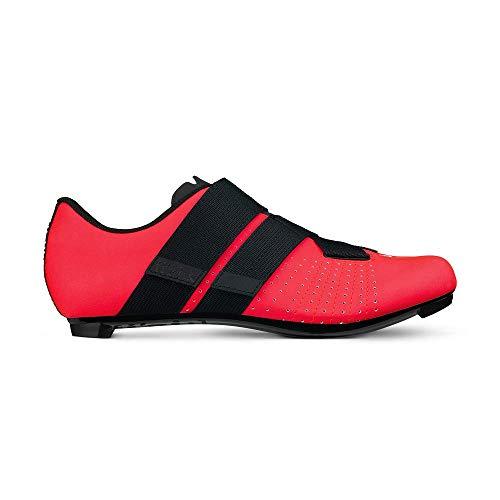 Fizik Tempo R5 Powerstrap Cycling Shoe, Coral/Black - 44, Coral/Black