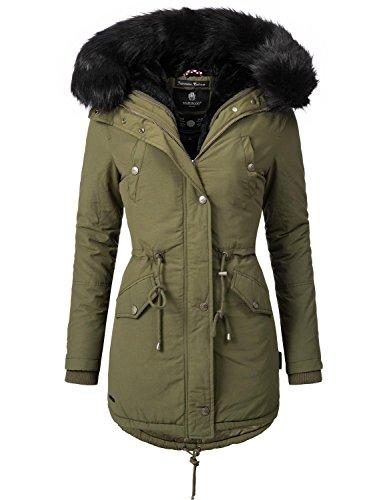 Mari Koo Manteau pour femme manteau d'hiver veste parka d'hiver 1?3?couleurs 16?kombinations possibilits de Mix & Match Tiramisu (vgtalien fabriqu) 2?couleurs + Camouflage XS  5?x l Vert